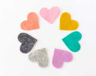 Custom Felt Bookmark Heart Shaped Bookmark
