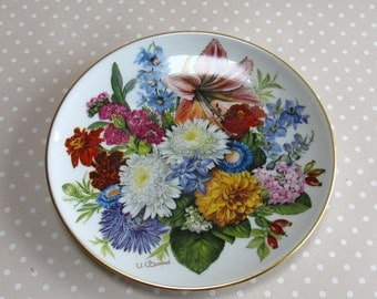 Herbstfarben - Fall Colours Collectable Plate 1988 Hutschenreuther Flowers Floral 1076b - David