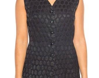 1960s Jacquard Vest Size: 4