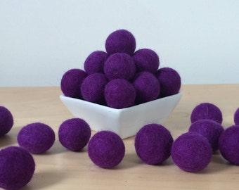 Felt Balls: PURPLE, Felted Balls, DIY Garland Kit, Wool Felt Balls, Felt Pom Pom, Handmade Felt Balls, Purple Felt Balls, Purple Pom Poms