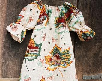 Girls Fall Dress, Baby fall outfit, Maple Leaf dress, autumn dress, Fall leaves dress, thanksgiving dress, fall dresses, boho, rustic