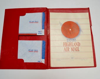 vintage Eaton's air mail stationery / stationary set: envelopes and paper, par avion