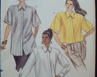 Easy Loose-Fitting Shirt in Three Styles Vogue Pattern 7727 Sizes 6-8-10