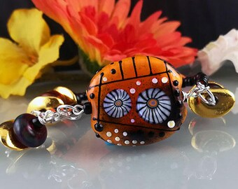Sahara-  Boho Chic Bracelet - Lampwork Art by Michou P. Anderson