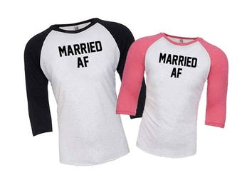 Just Married Shirts, Married AF, Bride Shirt, Hubby Wifey Shirts, Married AF Shirts, Mr and Mrs Shirts, Honeymoon Shirts, Wedding Gift, Cute