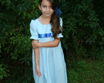 Peter Pan Wendy style 100% cotton dress for girls