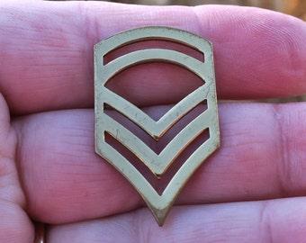 Vintage Staff Sergeant Brass Pin