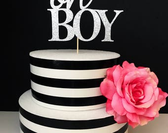 Oh boy cake topper- its a boy cake toppers- baby shower cake topper