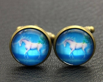 Unicorn Cufflinks, (1616)