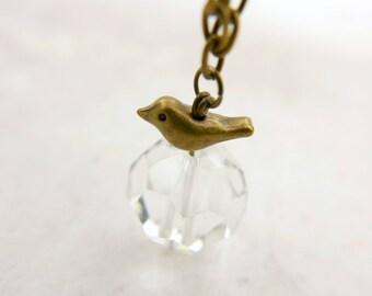 Petit Bird Necklace, Glass necklace