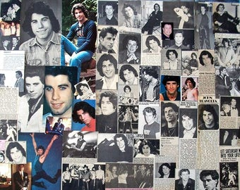 JOHN TRAVOLTA ~ Pulp Fiction, Urban Cowboy, Grease, Saturday Night Fever, Welcome Back Kotter ~ Color, B&W Clippings frm 1975-1986 - Batch 2