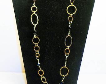 OOAK Gold Link Chain ID Lanyard, Steampunk Link Chain Badge Holder, Id Lanyard, Badge Holder,  Id Lanyard, Boho Lanyards, LY11203