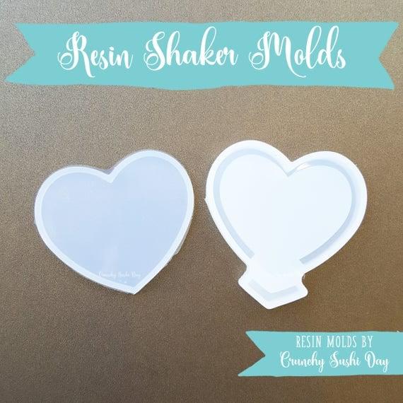 Heart Resin Shaker Mold, Resin Shaker Mold, Silicone Mold, Epoxy, Shaker Mold, Charm Mold, Kawaii, Resin Mold, Hollow Mold, UV Resin Mold