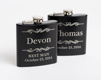 Personalized Flask, Best Man Gift, Groomsmen Gift, Groomsmen Flask, Engraved Flask, Nautical Wedding, Flasks