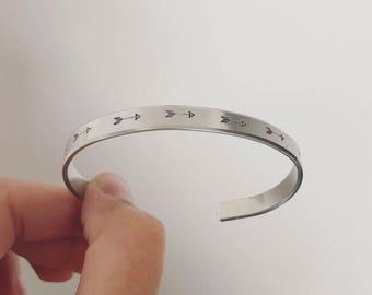 Arrow Handstamped Cuff Bracelet