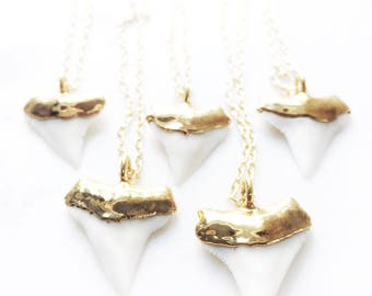 Mano Niho Kahi Sr. Necklace - large gold shark tooth necklace, white shark tooth, Hawaii jewelry, boho jewelry,gold pendant necklace,hawaii