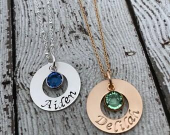 New Mom Necklace, Mom Birthstone Necklace, Birthstone Necklace for Mom, Personalized Mom Necklace, Birthstone Jewelry for Mom, Mommy Jewelry