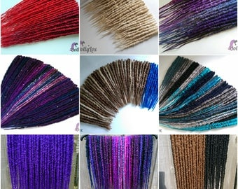 CUSTOM Synthetic crocheted dreads - solid or blended colours - ** DEPOSIT ONLY ** 50 double ended synth dreadlocks de