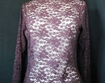 """the under sweater """"Penny"""" Plum lace"""