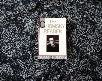 The Chomsky Reader By Noam Chomsky. 1980s Vintage Noam Chomsky Essay Collection. Liberal Political Essays. Political Analysis Chomsky Book
