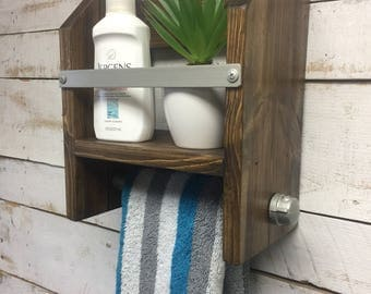 Bathroom Towel Rack,Towel Rack Shelf, Bathroom Towel Bar,Bathroom Wood Towel  Bar