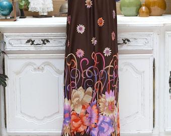Vintage 1970's Long Summer Dress