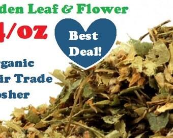 1 Ounce Organic LINDEN LEAF & FLOWER - Tilia cordata dried bulk herb, fair trade, kosher