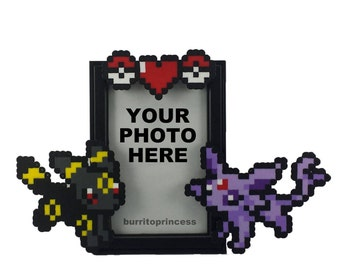 CUSTOM Pokemon Picture Frame - Couples Picture Frame - Video Game Wedding Gift - Pokemon Wedding Gift - Pokemon Anniversary Gift