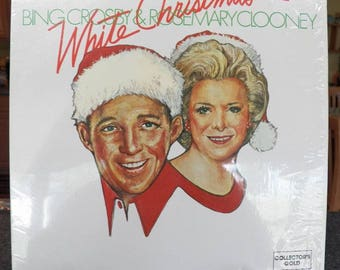Vintage Bing CROSBY & Rosemary CLOONEY 1978 LP~White Christmas~Collector's Gold