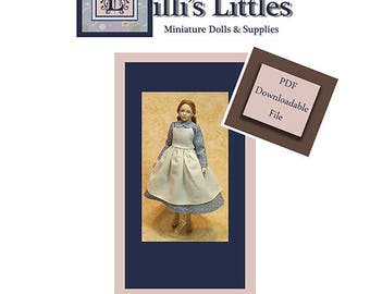 Dollhouse Doll Clothing Pattern in 1:12 Scale-PDF Pattern and Instructions