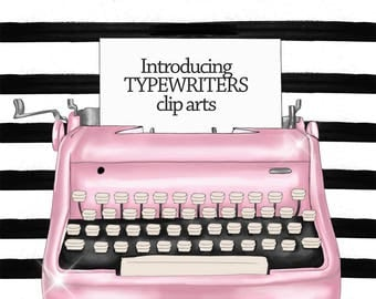 INSTANT DOWNLOAD - Typewriter clip art set - Printable , scrapbook , sticker - PNG file - 1 layer contains all