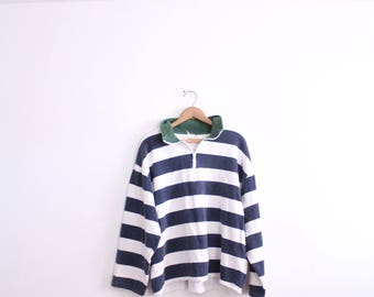 Nautical Striped 90s Sweatshirt