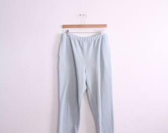 Pale Blue 90s Casual Pants