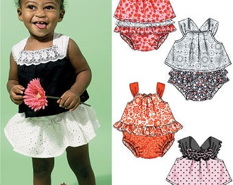 Infant/Toddler Tops and Shorts Pattern by McCall's 6538