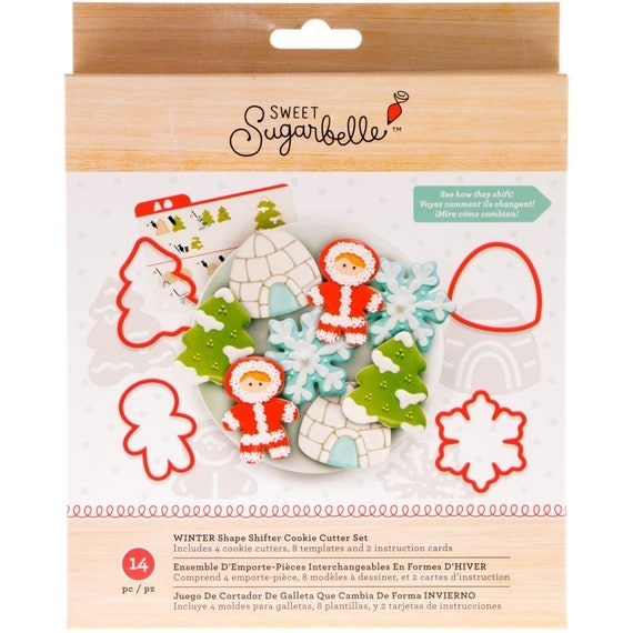 Shape shifters winter cookie cutters fun is for the whole family you can bake snowflakes, eskimos, christmas trees, gum drops and more