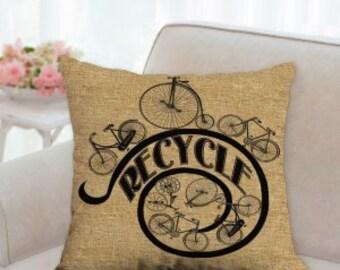 Recycle Bike Pillow