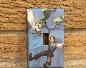 Tangled Flynn Light Switch Place, Flynn Rider Tangled, Rapunzel Decor, Rapunzel Gift, Rapunzel Nursery, Rapunzel, TAN6