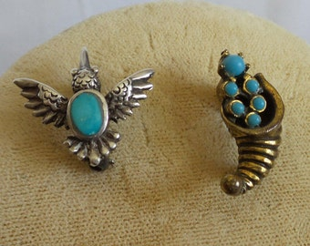 Pins Mini Pair with  Turquoise