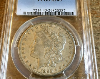 1892 CC Morgan Dollar XF45