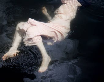 Moody Fairytale Photography - Girl Underwater Fine Art Photograph - Romantic Art