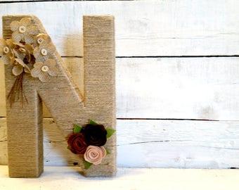 Custom Jute Wrapped Letters | Wedding Decor | Wedding Letters | Wall Letters | Room Letters | Bridal Shower Decor | Custom Letters