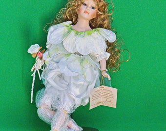 "Beautiful 19"" Jam Lee Limited Edition Collectable Handcraft Porcelain Doll With Stand"