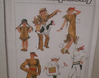 Vintage Sewing Pattern by Simplicity  Boys,  Girls Lone Ranger Pattern Size Med
