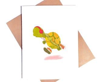 Turtle Running Card