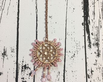 Dreamcatcher Charm- Pink & Gold