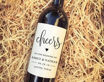 Cheers Wedding Wine Labels