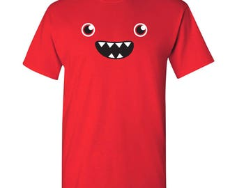 Om Nom Nom Monster Face T Shirt