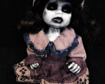 "AKUMU 9"" OOAK Porcelain Horror Doll"