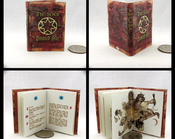 The SEVEN POINTED STAR 1:6 Scale Book Readable Miniature Book Game of Thrones