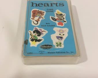 Vintage game of Hearts, 1963 game of hearts, hearts clovers horseshoes and stars, 1963 game of hearts, childhood memories